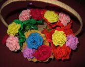 Da ne bi pozabili: rože iz krep papirja